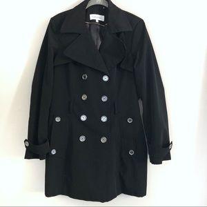Black Calvin Klein Trench Coat